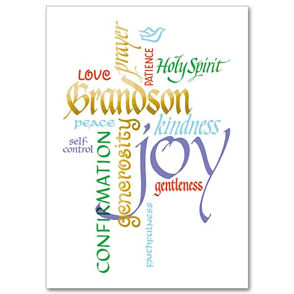 picture regarding Free Printable Confirmation Cards identify Grandson Affirmation
