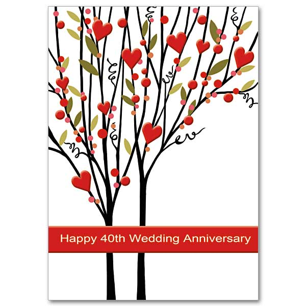 Happy 40th Wedding Anniversary 40th Wedding Anniversary Card