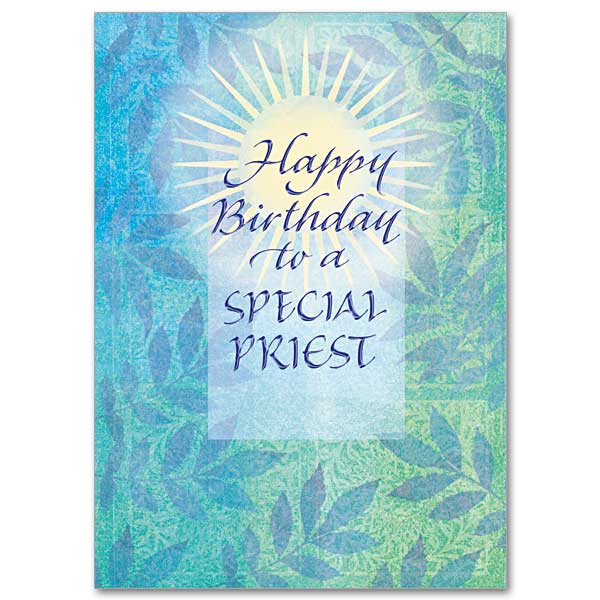 Happy Birthday to a Special Priest Birthday Card for Priest – Christian Birthday Verses for Cards