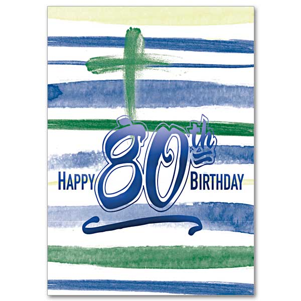 80th Birthday Card Click Here For Larger Picture