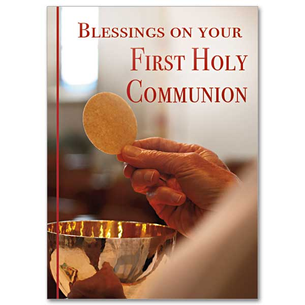 Blessings on Your First Holy Communion: First Communion Card