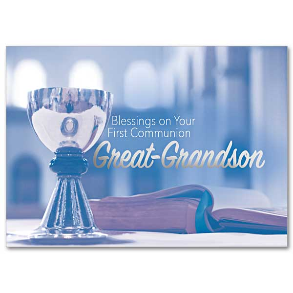 Blessings On Your First Communion Great Grandson First Communion