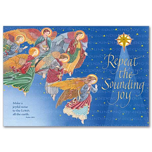 Repeat The Sounding Joy Deluxe Photo Card Custom Single Fold