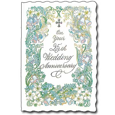 On your 25th wedding anniversary 25th wedding anniversary card 25th wedding anniversary card m4hsunfo