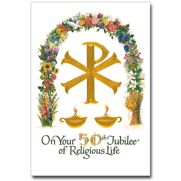 On Your 50th Jubilee Of Religious Life Religious Profession Anniversary Card