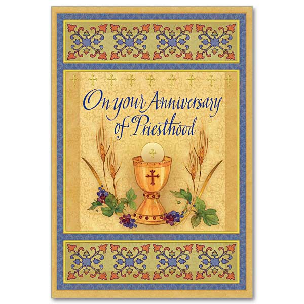 greeting cards for priestly ordination anniversary