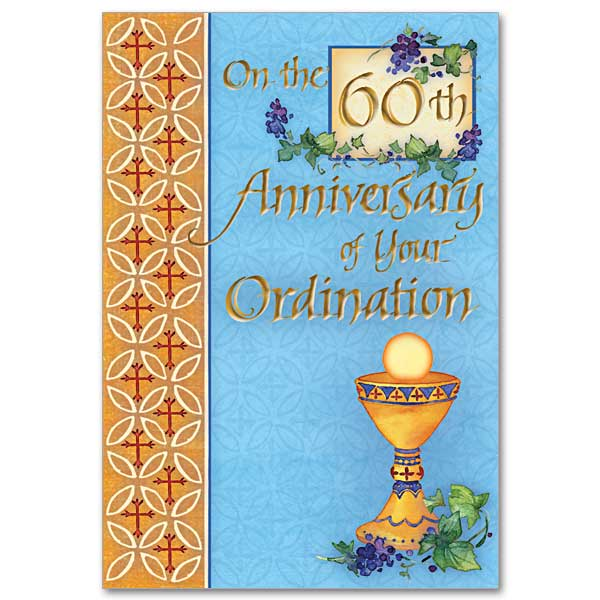 60th Ordination Anniversary: Ordination Anniversary Card, 60th