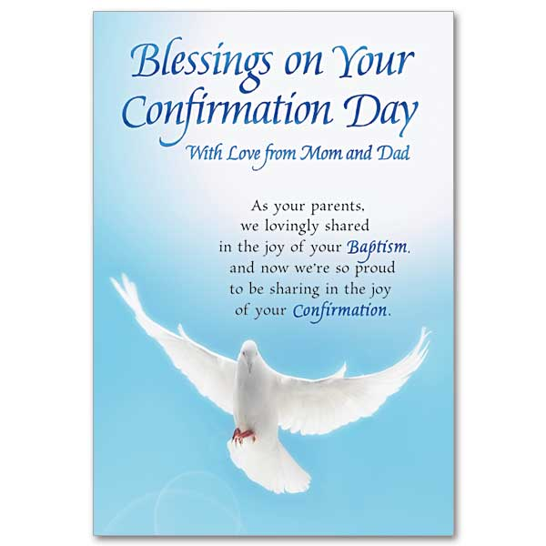 Blessings on Your Confirmation Day: Confirmation Card