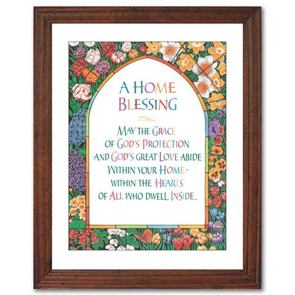 Home Blessing Framed Print