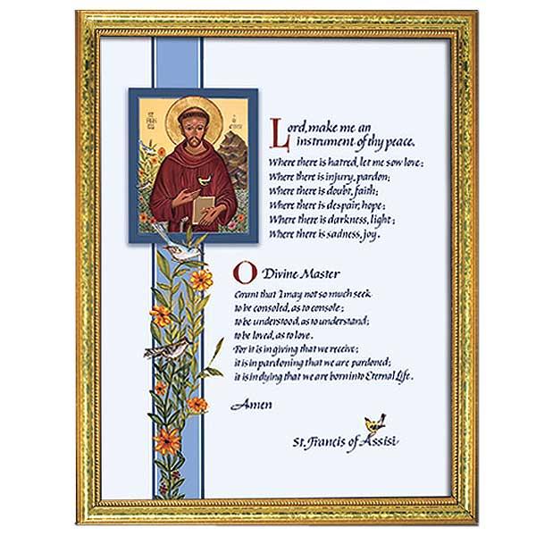 Prayer of St Francis Framed Print