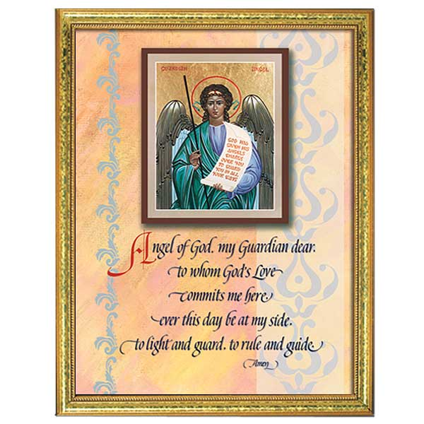 picture relating to Guardian Angel Prayer Printable titled Dad or mum Angel Prayer: Framed Print