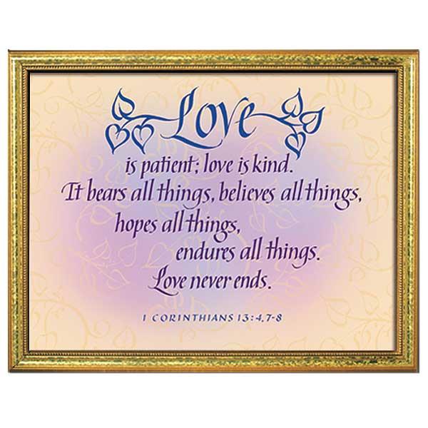 1 Corinthians 13 Wedding Invitations: Love Is Patient, Love Is Kind (1st Corinthians 13: 4, 7-8