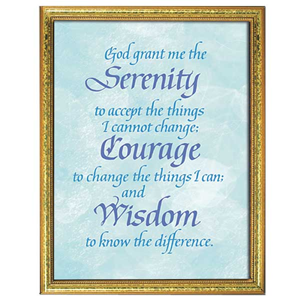 graphic regarding Serenity Prayer Printable identified as Serenity Prayer: Framed Print