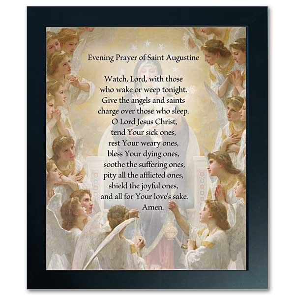 Evening Prayer of Saint Augustine : Framed Print