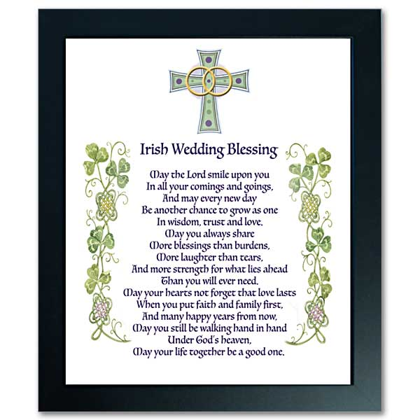 Irish Wedding Blessing Abbey Irish Framed Print