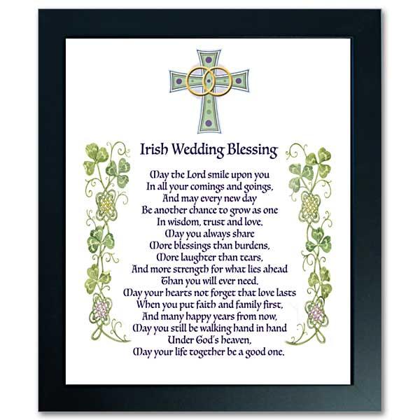 Irish Wedding Blessing: Abbey Irish Framed Print