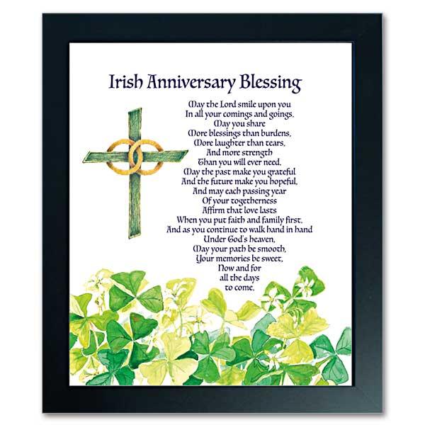 Irish Wedding Blessing Gifts: Irish Anniversary Blessing: Abbey Irish Framed Print