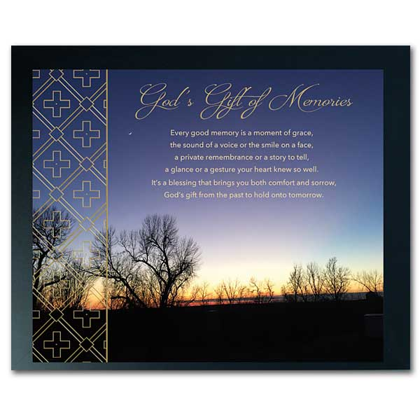 Moment Of Grace >> Every Good Memory Is A Moment Of Grace Sympathy Framed Print