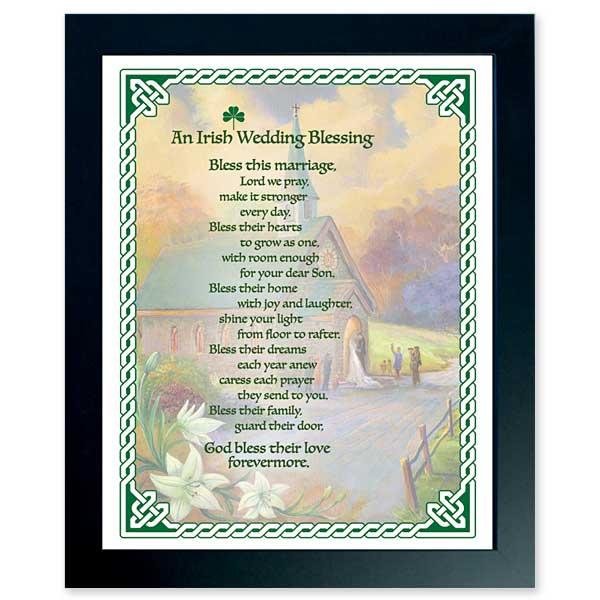 Irish Wedding Blessing Gifts: Irish Wedding Blessing: Framed Print