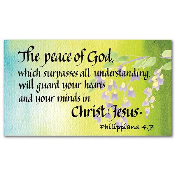 the peace of god faith sharing cards