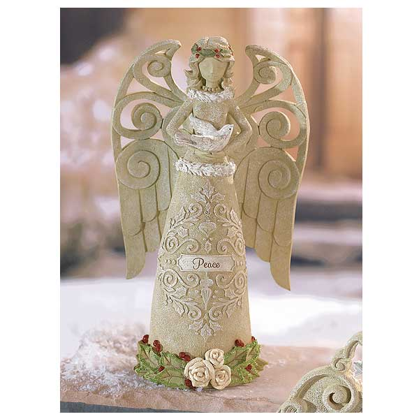 peace christmas angel statue - Christmas Angel Figurines