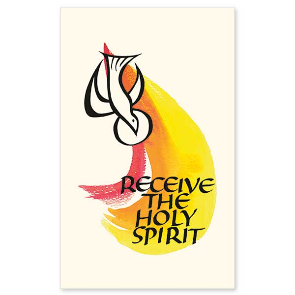 Receive the Holy Spirit: Holy Card