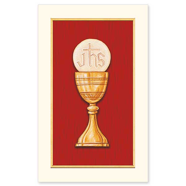 First Communion Chalice and Host: Holy Cards