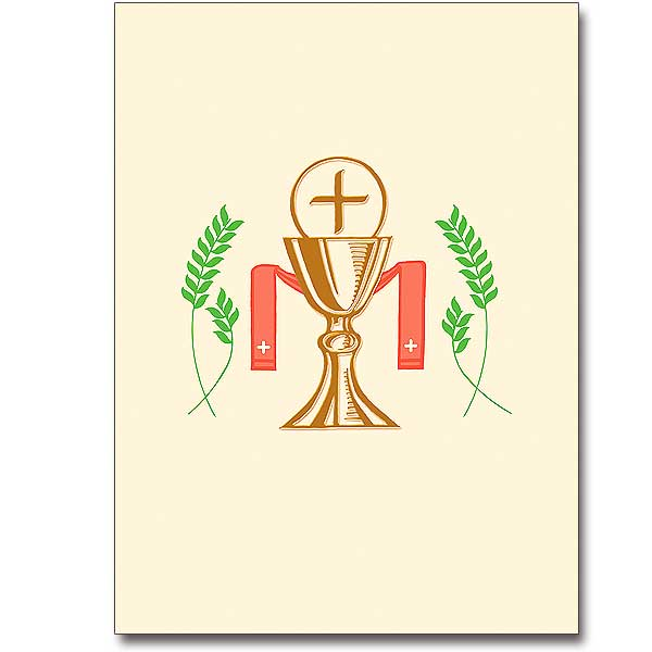 Chalice and Host with Stole: Ordination Invitations