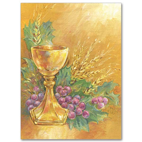 Chalice with Grapes and Wheat: Ordination Invitations