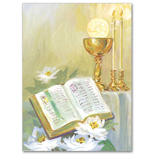 Chalice and host on altar ordination invitations chalice and host on altar ordination invitations stopboris Choice Image