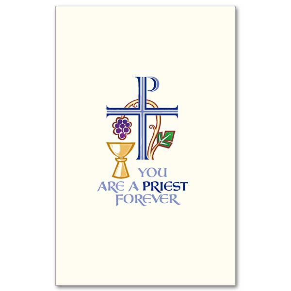 You are a priest forever priest ordination invitation set small booklet cover stopboris Choice Image